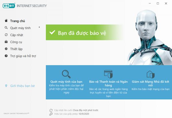 phần mềm diệt virus eset