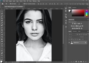 bóp mặt bằng photoshop